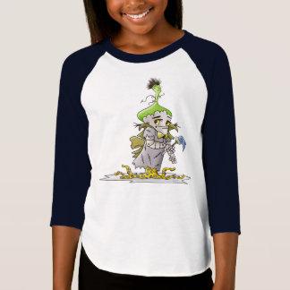FRANKY BUTTER ALIEN CARTOON D American Apparel 3/4 T-Shirt