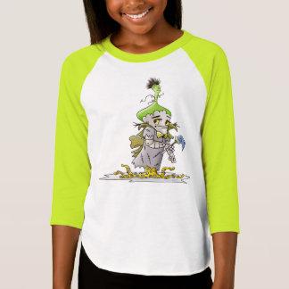 FRANKY BUTTER ALIEN CARTOON G American Apparel 3/4 T-Shirt