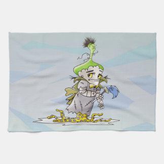 FRANKY BUTTER ALIEN CARTOON  Linen with crockery Kitchen Towel