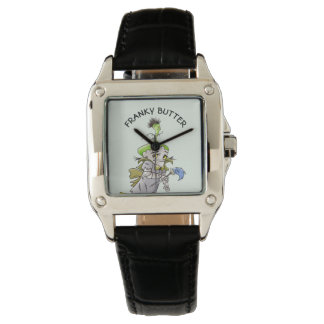 FRANKY BUTTER ALIEN CARTOON Perfect Square Black L Watch