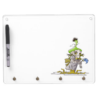 FRANKY BUTTER ALIEN Keychain holder and Pen (horiz Dry Erase Board With Keychain Holder