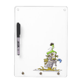 FRANKY BUTTER ALIEN Keychain holder and Pen (verti Dry Erase Board