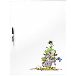FRANKY BUTTER ALIEN  Large w/ Pen Dry Erase Board