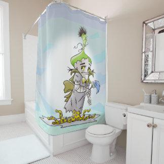 FRANKY BUTTER ALIEN MONSTER  Shower Curtain