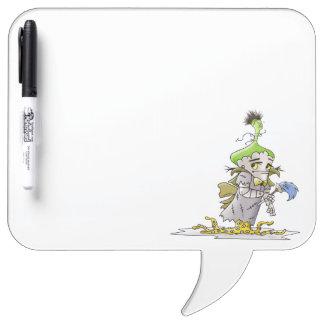 FRANKY BUTTER ALIEN Square Speech Bubble w/ Pen Dry Erase Board