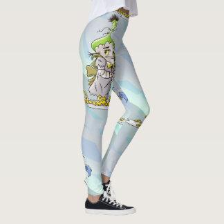 FRANKY BUTTLER ALIENS MONSTERS CARTOON Leggings