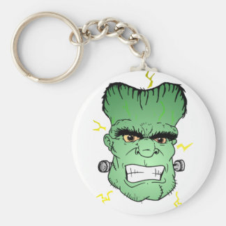 Franky face basic round button keychain