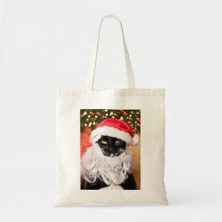 Franny Claus Sad Santa Kitty Tote Bag