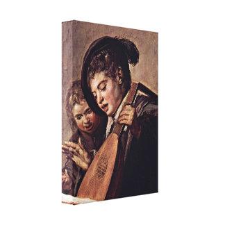 Frans Hals - Baroque of musicians Gallery Wrap Canvas