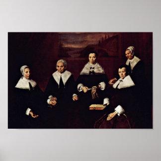 Frans Hals - Group portrait of the regents Poster