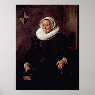 Frans Hals - Wife of Pieter Jacobsz Poster