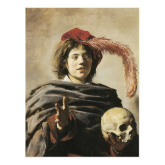 Frans Hals Young Man With Skull Postcard