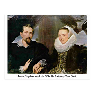 Frans Snyders And His Wife By Anthony Van Dyck Postcard