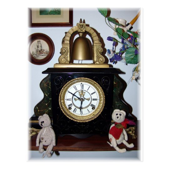 Franscious and Lennart Old Clock Postcard