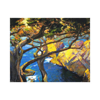 Franz Bischoff - Cleft-Born Trees, Monterey Canvas Print