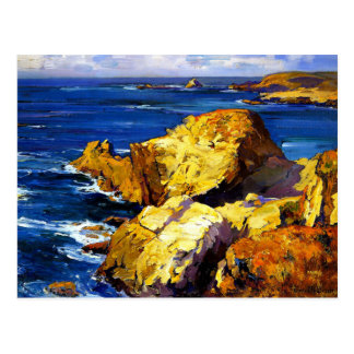 Franz Bischoff - Rocks along the Coast Postcard