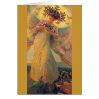 Franz Dvorak Angel of Birds CC0429 Birthday Card