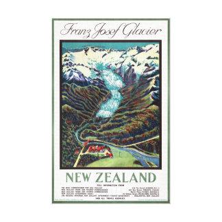 Franz Josef Glacier Vintage Travel Poster Canvas Print