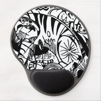 Franz Marc - Black and White Tiger - Abstract Art Gel Mouse Pad