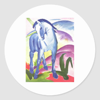 Franz Marc - Blue Horse I 1911 Equine Equestrian Round Sticker