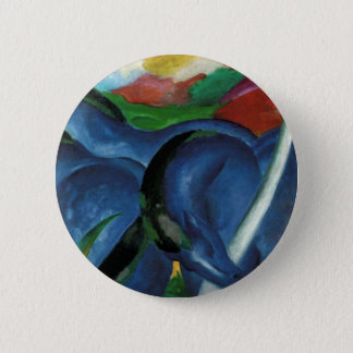 franz marc blue horses  design 2 inch round button