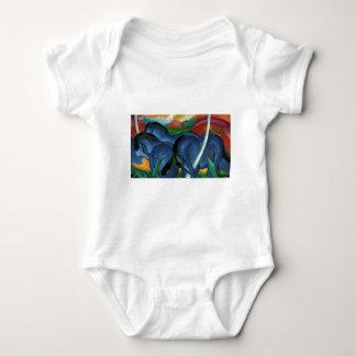 franz marc blue horses  design baby bodysuit
