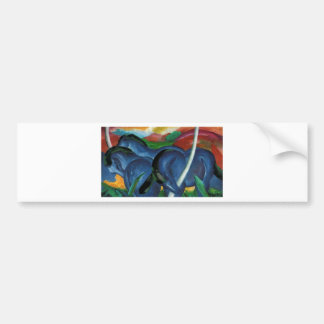franz marc blue horses  design bumper sticker