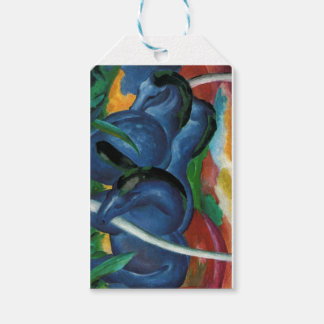franz marc blue horses  design gift tags