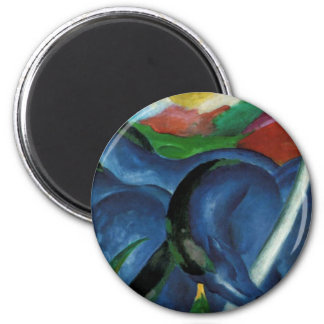 franz marc blue horses  design magnet