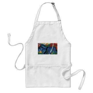 franz marc blue horses  design standard apron