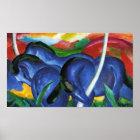Franz Marc Blue Horses Poster