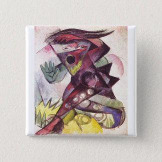 Franz Marc - Caliban Tempest Shakespeare 1914 2 Inch Square Button