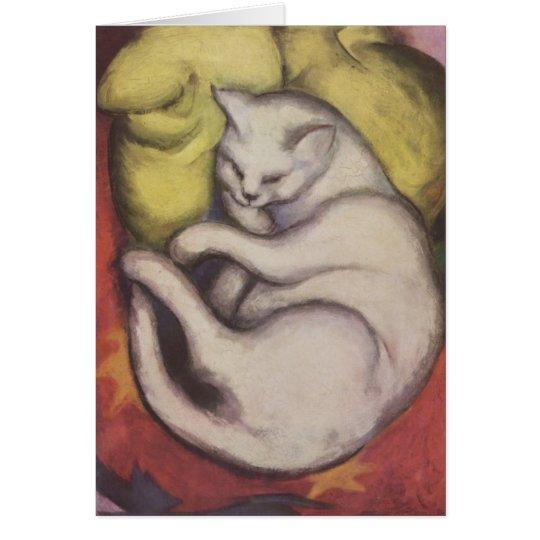 Franz Marc - Cat on a Yellow Cushion Card