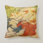 Franz Marc Cats Throw Pillow
