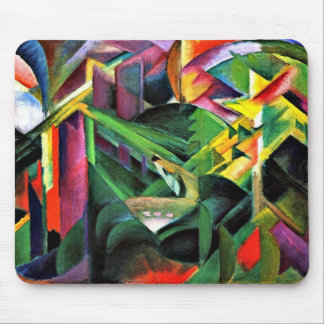 Franz Marc - Deer in a Monastery Garden Mouse Pad