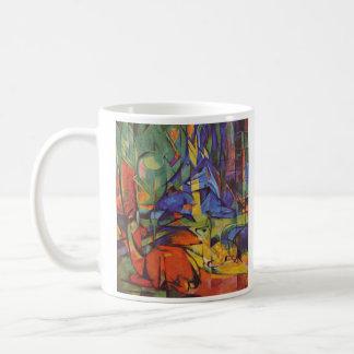 Franz Marc - Deer in Forest Coffee Mug