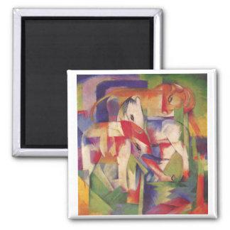Franz Marc - Elefant, Pferd, Rind, Winter Magnet