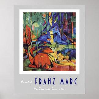Franz Marc - German Expressionist - Roe Deer Poster
