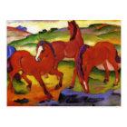 Franz Marc Grazing Horses Postcard