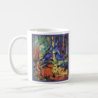 Franz Marc - Roe Doe in Forest - Expressionist Coffee Mug