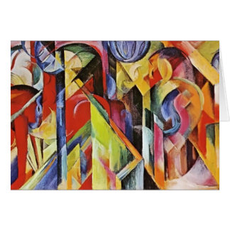 Franz Marc- Stables Greeting Card