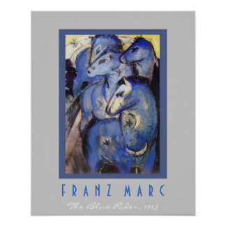 Franz Marc - The Blue Rider - Horses Poster