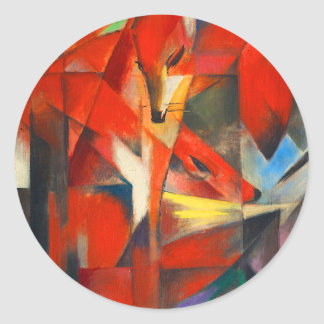 Franz Marc The Foxes Classic Round Sticker