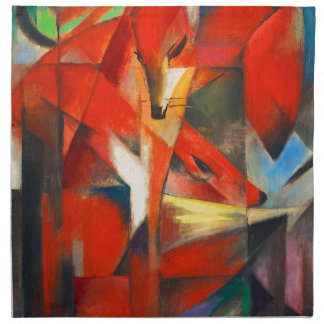 Franz Marc The Foxes Napkin
