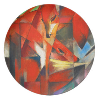 Franz Marc The Foxes Plate