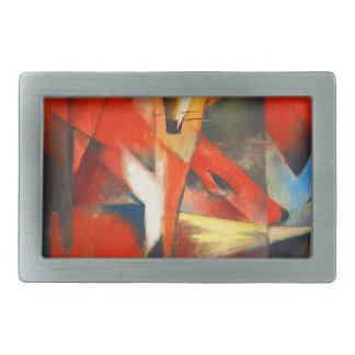 Franz Marc The Foxes Rectangular Belt Buckle