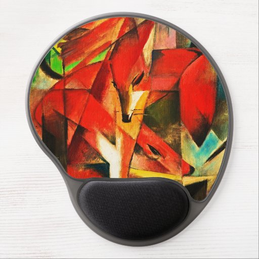 Franz Marc The Foxes Red Fox Modern Art Painting Gel Mousepads