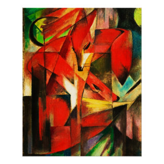 Franz Marc The Foxes Red Fox Modern Art Painting Perfect Poster