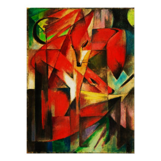 Franz Marc The Foxes Red Fox Modern Art Painting Posters