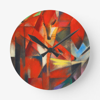 Franz Marc The Foxes Round Clock